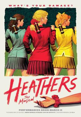 Heathers Off-Broadway Poster